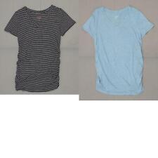 Isabel Maternity Women's Short-Sleeve Shirred V-Neck T-Shirt