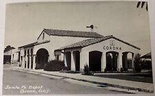 PRESENT SANTA FE DEPOT CORONA CALIFORNIA Postcard Unposted
