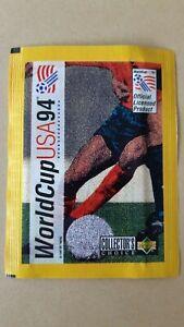 1 ungeöffnete Tüte Upper Deck USA 94 WORLD CUP Sticker WM Baggio Maldini Gullit