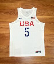 2016 NIKE USA BASKETBALL KEVIN DURANT JERSEY RIO OLYMPIC FIBA NBA WARRIORS XL