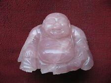 Chine - Asie - Putaï - Bouddha - Sculpture - Quartz rose Travail du début XXème