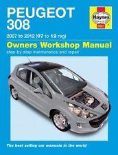 Haynes Owners Workshop Manual Peugeot 308 Petrol Diesel 2007-2012 SERVICE REPAIR