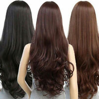 Women's Long Wve Full Hair Wig Party Hairpiece Natural Heat Resistant Cool   US