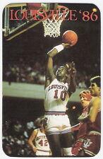 1986-87 LOUISVILLE MEN'S BASKETBALL POCKET SCHEDULE - DEFENDING NCAA CHAMPIONS!