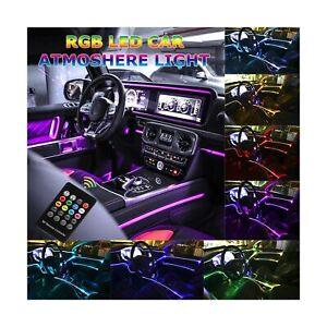 Car LED Strip Light, Multicolor RGB Music Sync Rhythm Car Interior Lights - 5...