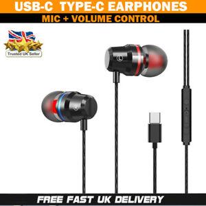 For Huawei P30 Pro / P20 Pro / P20 USB Type-C Stereo Headphones Earphones W/Mic
