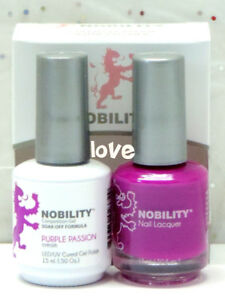 LECHAT NOBILITY LED/UV GelColor & Free Nail Polish Set NBCS054- Purple Passion