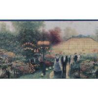 Thomas Kinkade Garden Party Wallpaper Border by Imperial 30884120