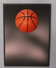 Basketball trophy plaque 6x8 black 1/2 dome full color ball relief