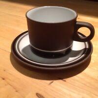 Hornsea Lancaster Vitramic Contrast Vintage tea cup and saucer 70s - per set