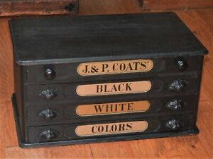 Antique 4-drawer spool cabinet - General Store mercantile