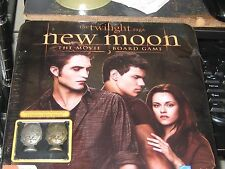 Twilight Saga New Moon The Movie Board Game Sealed Tin w/Metal Cullen Crest Pcs!