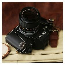 Leather Black Half Case for Canon New F1 - BRAND NEW