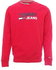 TOMMY HILFIGER JEANS sweat shirt rouge homme TJM Corp Logo red DM07930