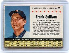 "1961 POST CEREAL #55 FRANK SULLIVAN ""BOX"", BOSTON RED SOX, SET BREAK, 051217"