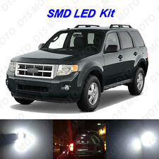 10 x White LED interior Bulbs + License Plate Lights For 2008-2012 Ford Escape