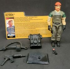 """GI Joe NIGHT FORCE OUTBACK T""""R""""S Exclusive 100% Complete 1989 Hasbro w/card"""
