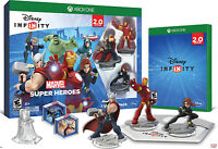NEW Xbox One Disney INFINITY Marvel Super Heroes Starter Pack Game Base Figures