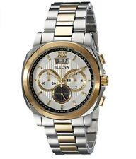 Bulova Hombres Vestido Dos De Oro/Tono Reloj Cronógrafo 98B232 Deal