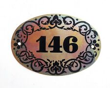 Soviet vintage tin apt door number plate 146 retro address plaque USSR