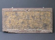 Antique Panel Of Box Shan Wooden Carved Burma