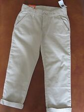 Gap Girl's Cotton BeigeTrousers Age 7 Years BNWT.