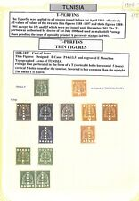 AF137 1888 FRENCH COLONIES TUNISIA Postage Dues Selection/Album Page