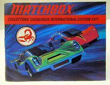 International Edition 1971 MATCHBOX Diecast TOYS CATALOG England unused nm/ mint