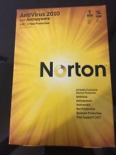 NEW NORTON ANTIVIRUS with ANTISPYWARE 2010