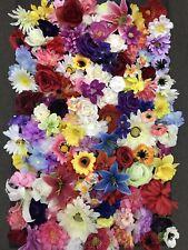 100x MIXED FLOWER HEADS Joblot Artificial Silk Flowers Wedding Craft Wholesale