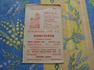Guildford v Worcester Southern Lge 1963/4