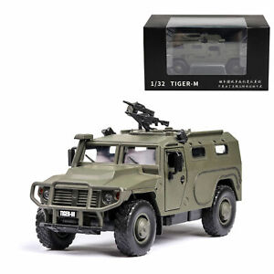 1/32 Russian Tiger-M Military Armored Vehicle Model Car Diecast Toy Gift Green