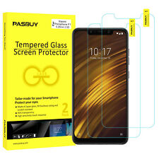 PASBUY 2 Pack 0.26mm Tempered Glass Screen Protector for Xiaomi Pocophone F1