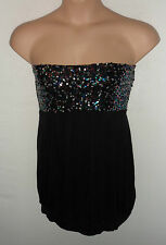 VERO MODA strapless sequin dress UK 14 US 12 EU 42 was £22 Multi Karat tube top