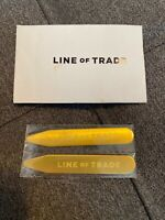 Line of Trade ~ Solid Brass Collar Stays ~ Bespoke Post NEW