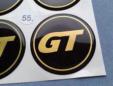 (GT55SG) 4x GT Embleme für Nabenkappen Felgendeckel 55mm Silikon Aufkleber
