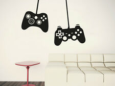 Wall Decal Vinyl Sticker Gamer Player xbox 360 ps3 2 Game Controllers  r1093
