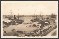 Alexandria Postcard. Egypt. General View of the Port by the Cairo Postcard Trust