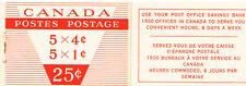 Canada 1956 Sc337a,40a$ 2.25  MiMH51 5.0 MiEu  1 Booklet  mnh  Elizabeth II