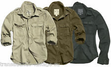 SURPLUS MILITARY ARMY MENS SHIRT RAW VINTAGE LOOK LONG SLEEVE 100% COTTON