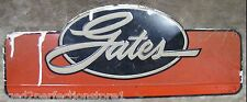 Old Embossed GATES Auto Parts Advertising Sign gas station repair shop belt hose