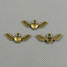 5x Jewelry Making Pendant Vintage Retro Findings Charms Clasp A1062 Love Wing