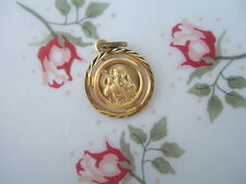 Catholic Medal ST. PATRICK Irish Saint Gold finish 14mm pendant