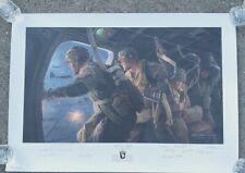 Forrest Guth Band of Brothers Owned Print Night of Nights Signed by 10 Veterans