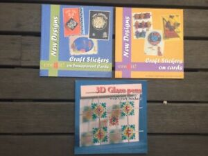3 Books-Craft Stickers on Cards, Craft Stickers on Transparent Cards, 3d Glaze p