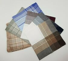 6 Men's Boy's Handkerchiefs, Hankies Size 39cm x 39cm