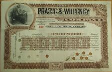 FRANCIS ASHBURY PRATT-Signed 'Pratt & Whitney Co.' 1890 Stock Certificate