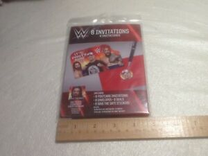 M WWE WRESTLING STARS  Postcard Invitations Kids' Birthday Party Supplies Favors