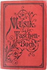 """Antique Dr. Hugo Riemann """"Musik Taschenbuch"""", Steingraber 1918 Edition"""
