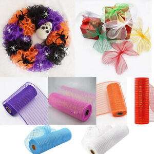 Deco Mesh Rolls 26cm x 10yd Roll - 8 colours Available for Wreaths Swags Bows
